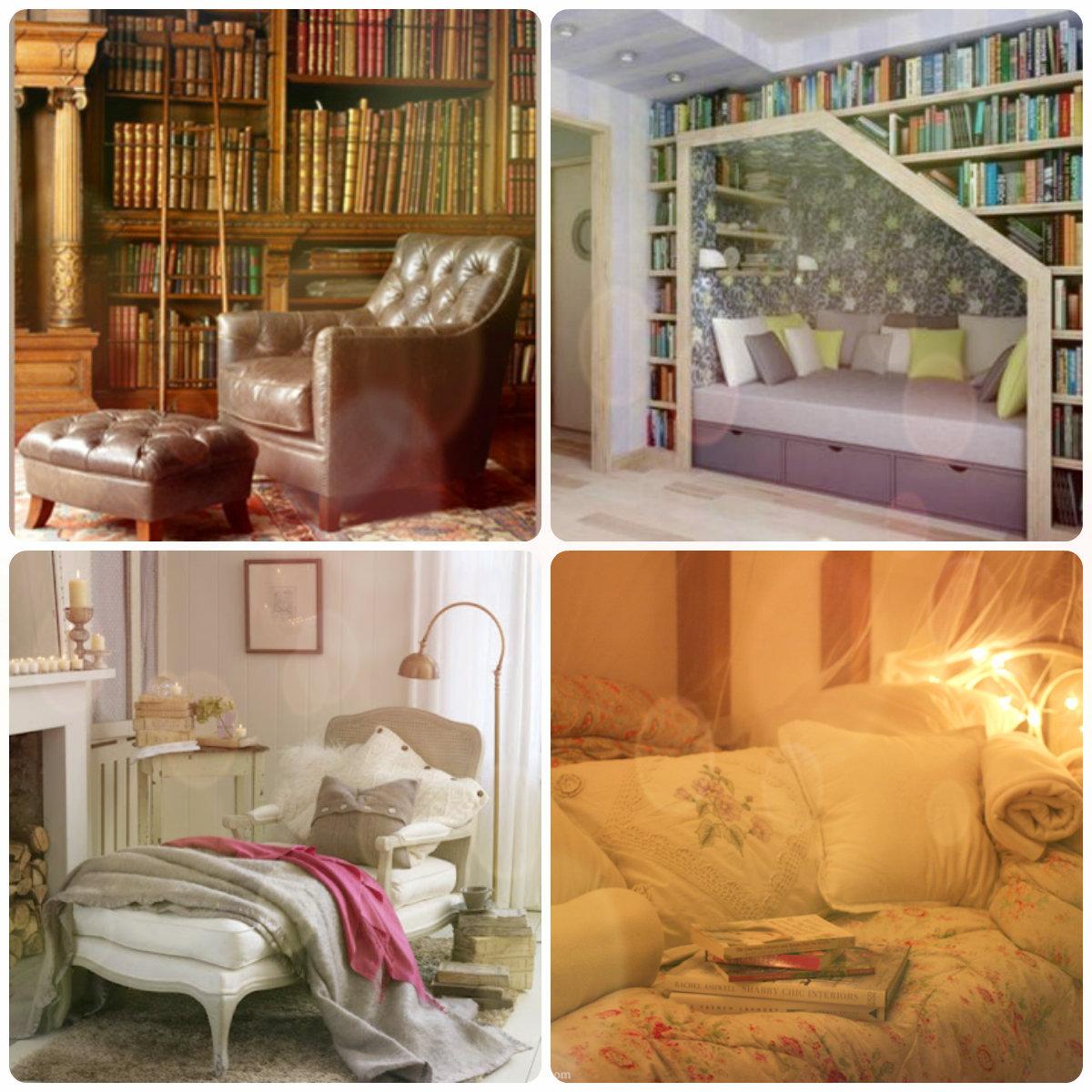 มุมอ่านหนังสือในบ้าน